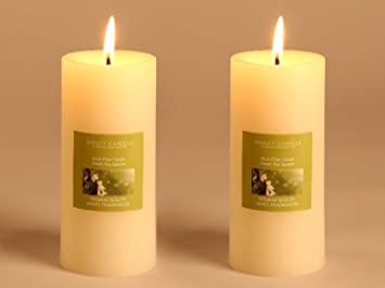 Buy Hosley Set Of 2 Sweeet Pea Jasmine 6inchs Pillar Candles Online
