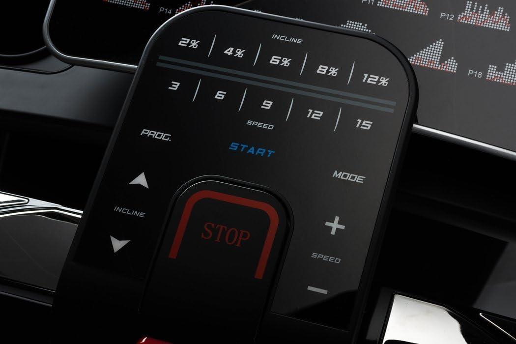 klappbar 3 PS SD 1-20 km//h Aux eingebaute Lautsprecher Elitum Laufband TX1000 Bluetooth 18 Trainingsprogramme belastbar bis 150 kg USB