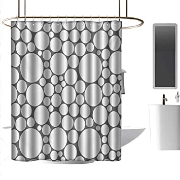 Amazon.com: Cortinas de ducha con círculo geométrico blanco ...