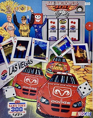 (2004 - NASCAR/Las Vegas Motor speedway - UAW-Daimler Chrysler 400 - Official Program - Sam Bass Cover Art - Rare - Collectible)