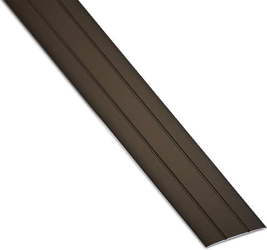 SOTECH 4 St/ück Aluminium /Übergangsprofile Cross selbstklebend /Übergangsschiene Alu flach Boden-Leiste mit Breite 37 mm Ausgleichsprofil Silber eloxiert Abdeckleiste 100 cm Bodenprofil Schiene