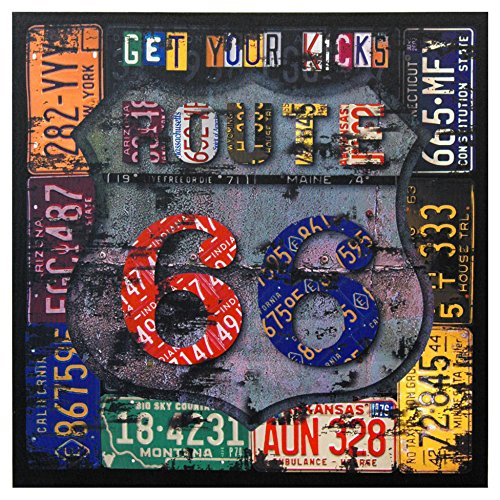 Oriental Furniture Route 66 Canvas Wall Art - rustic route 66 wall decor