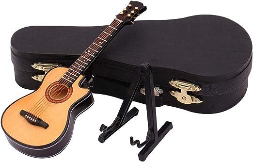 Vaycally 10CM Escala Folk Color de madera Modelo de guitarra DIY ...