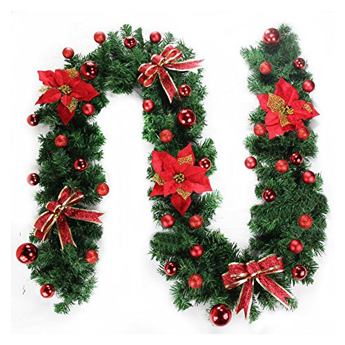 Bic Living 1x Christmas Garland Decoration Door Mantelpiece Wreath Holidays Two Colors