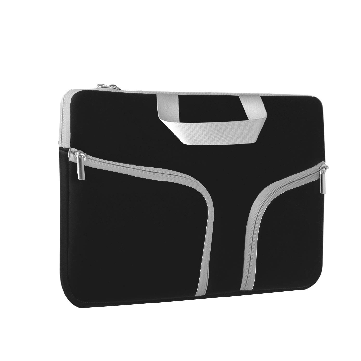 Chromebook Case, HESTECH 13-13.3 Neoprene Laptop Sleeve Case with Handle for 13'' MacBook Air/Pro iPad Pro 12.9 Surface Book Pro3/Pro 4 Chromebook 13, Black by HESTECH