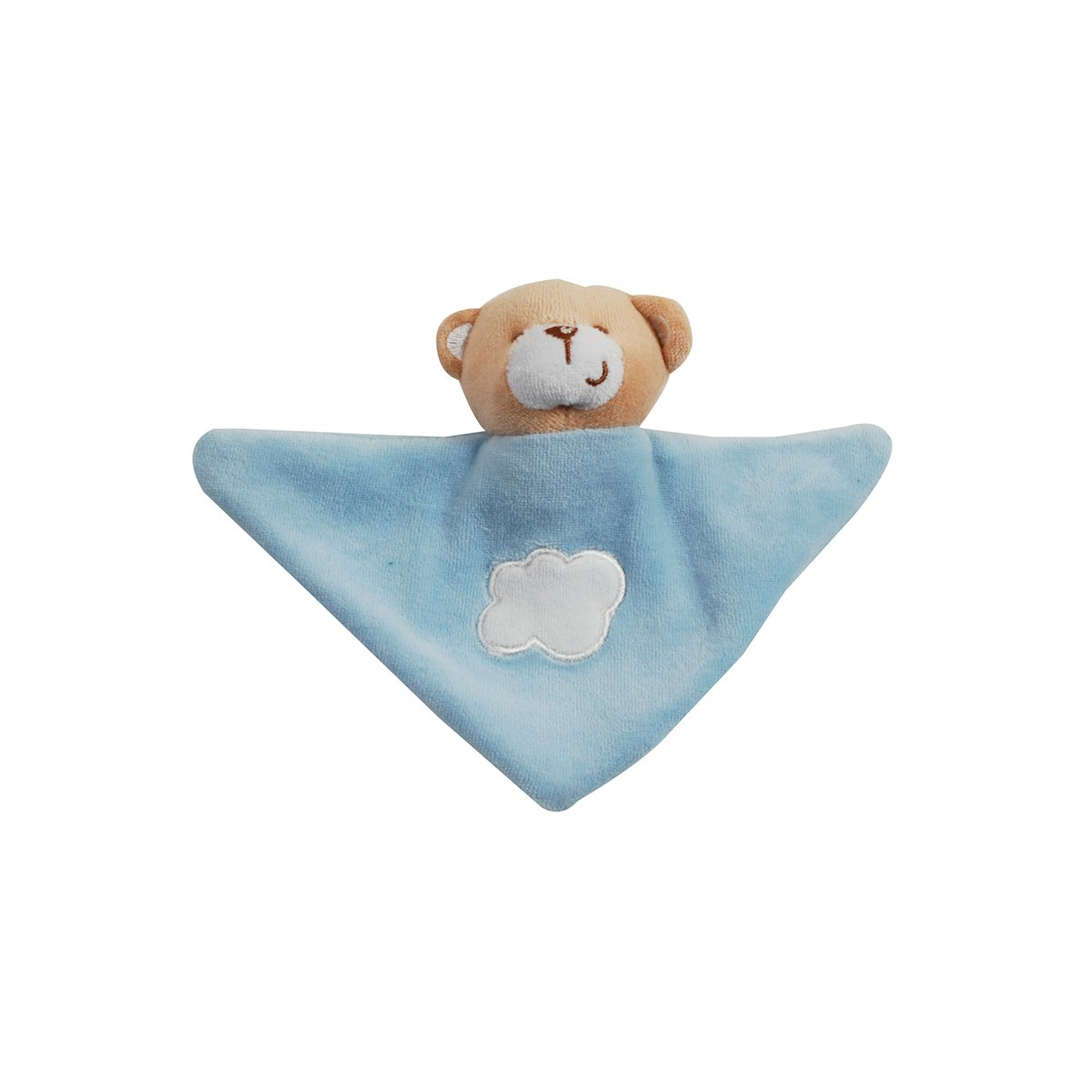 Doudou Triángulo del oso del bebé King Bear - Azul