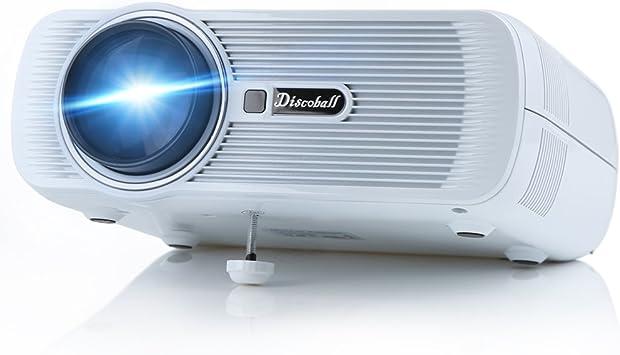 LCD proyector, Discoball DM-03 mini proyector ayuda 1080P Video en ...