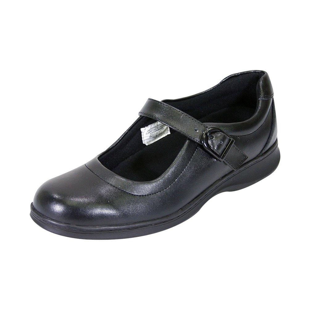 24 Hour Comfort Leann (1026D) Women Wide Width Comfort Shoes Black 5.5 by 24 Hour Comfort
