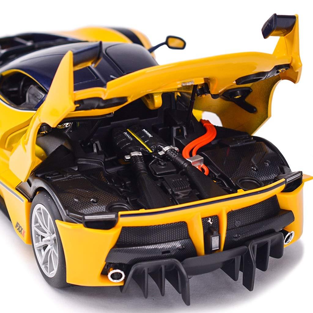HTDZDX Mod/èle de Voiture 1:18 Ferrari FXX K Simulation en Alliage moul/é sous Pression Jouet Bijoux Collection de Voitures de Sport Bijoux 26.5x11.5x6CM Couleur : Rouge