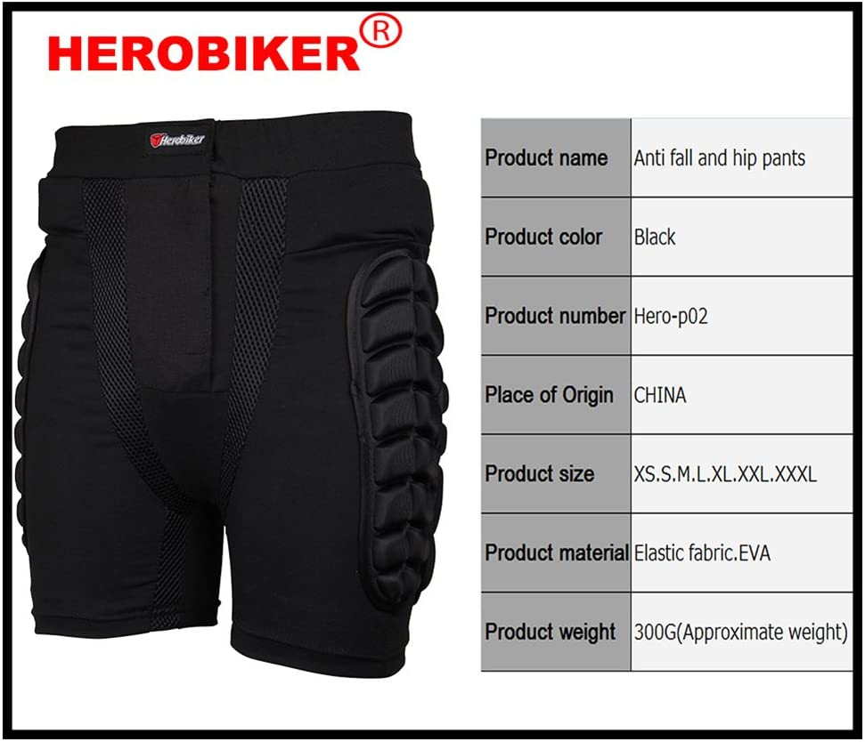 Luckycyc Lightweight Breathable EVA Motorcycle Armor Shorts Off-Road Motorcross Cycling Skating Protective Hip Pad