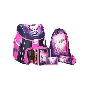 96a2a3c4f04ee Einhorn Schulranzen Mädchen 1 Klasse Tornister Schulrucksack Schultasche