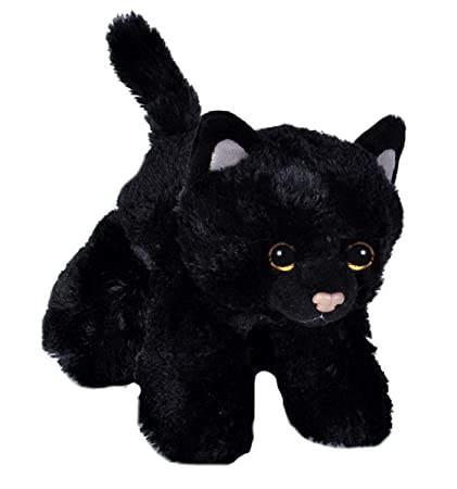 Amazon Com Wild Republic Black Cat Plush Stuffed Animal Plush Toy