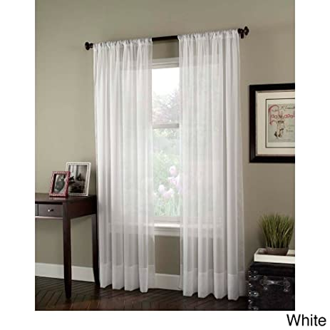 soho voile sheer curtain panel 59 by winter white