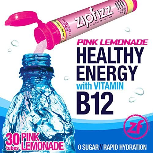 Zipfizz Pink Lemonade Healthy Energy Drink Mix – Transform Your Water Into a Healthy Energy Drink – 2 Boxes, 30 Tubes Each