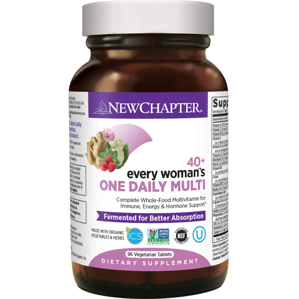 New Chapter Women's Multivitamin, Every Woman's One Daily 40+ Fermented with Probiotics + Vitamin D3 + B Vitamins + Organic Non-GMO Ingredients - 96 ct (Packaging May Vary)