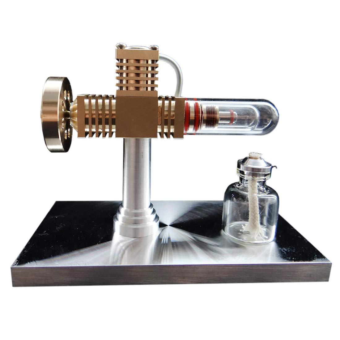 PeleusTech® Stirling Engine Model Hot Air Engine Kit Quartz Heat Pipe Free-Piston Stirling Engine for Gift, Teaching