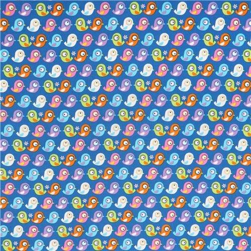blue bird organic fabric Timeless Treasures (per 0.5 yard multiples)