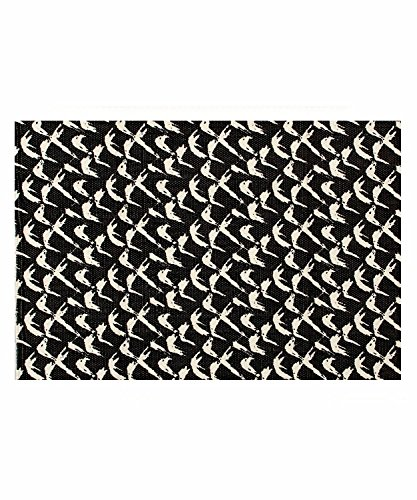 - Casa Copenhagen Zebra Cotton Area Rug for Entryway Doorway Hallway Living Dining Bath, Cream & Black