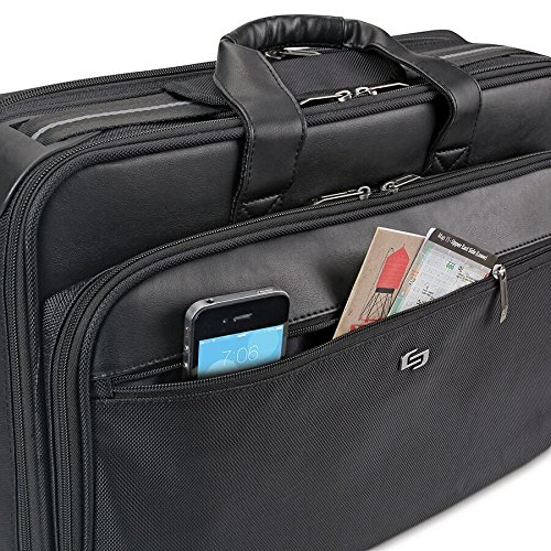 030918230046 - Solo Paramount 16 Inch Laptop Briefcase with Smart Strap, Black carousel main 3