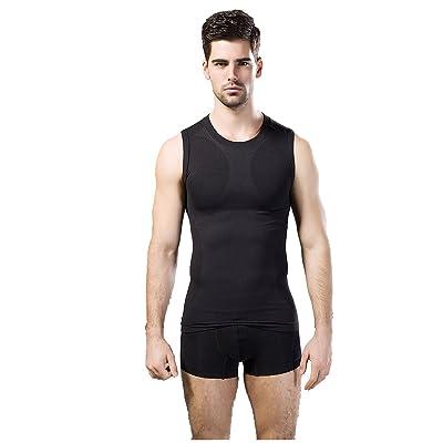 Hommes Minceur Body Shaper Chemise De Compression Sport Aptitude Gilet Shapewear Respirant