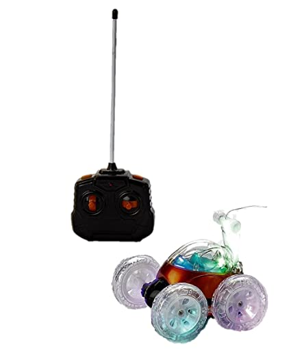 Mindscope Turbo Twister Light Up LED Stunt RC Remote Control Vehicle - Orange (27 MHz