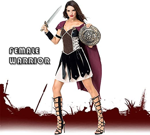 JJAIR Traje Reina espartana de la Mujer, Disfraz de Halloween ...