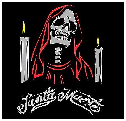 Amazoncom Paper Sticker Santa Muerte Mexican Saint Holy Death Emo