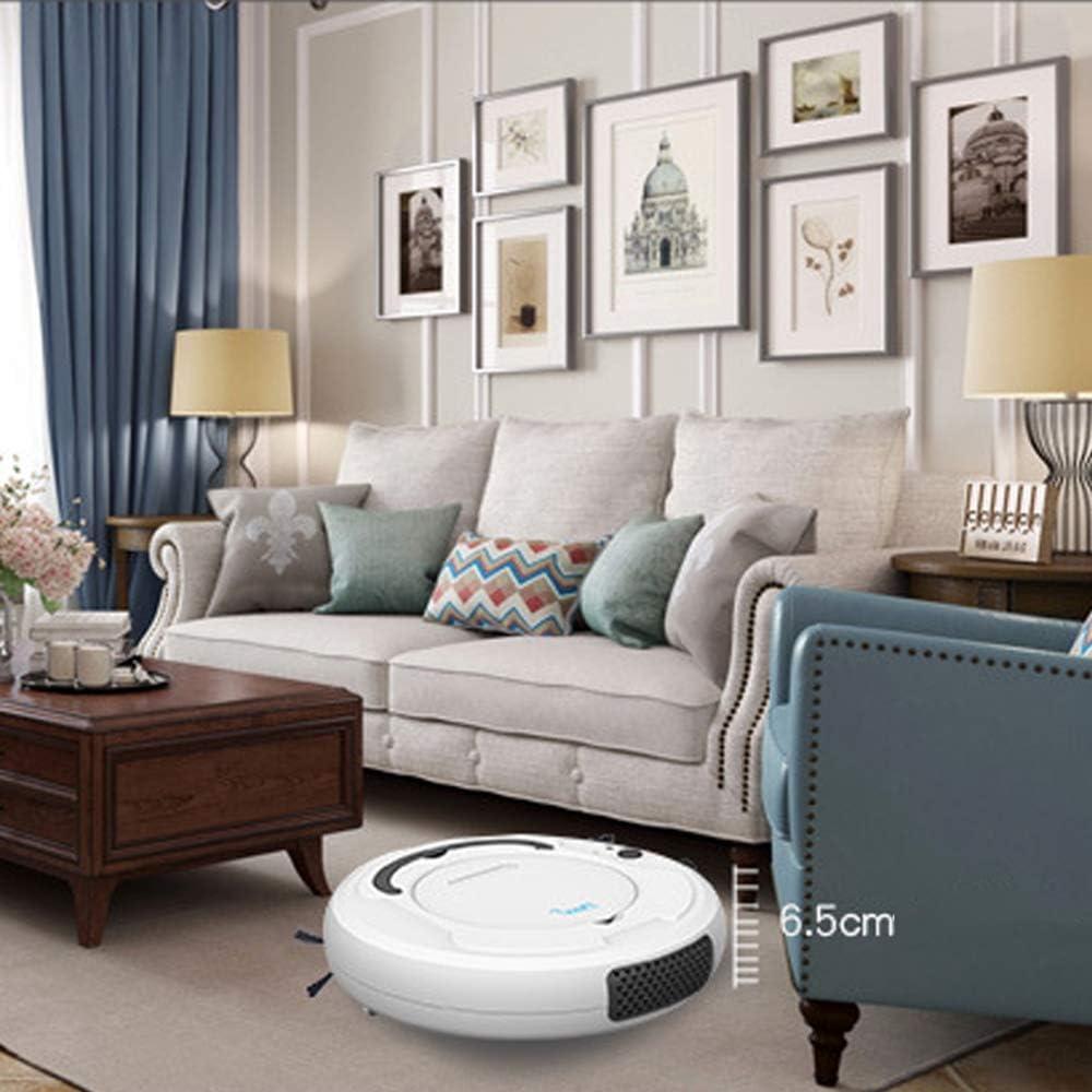 Aspirateur Robot, aspirateur Robot Ultra-Mince à Chargement Automatique, Robot de Balayage Intelligent Trois en Un, Nettoyeur de sols à Forte Aspiration Black