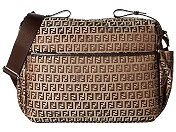 d997dc901855 Amazon.com   Fendi Kids All Over Diaper Bag Brown One Size   Baby