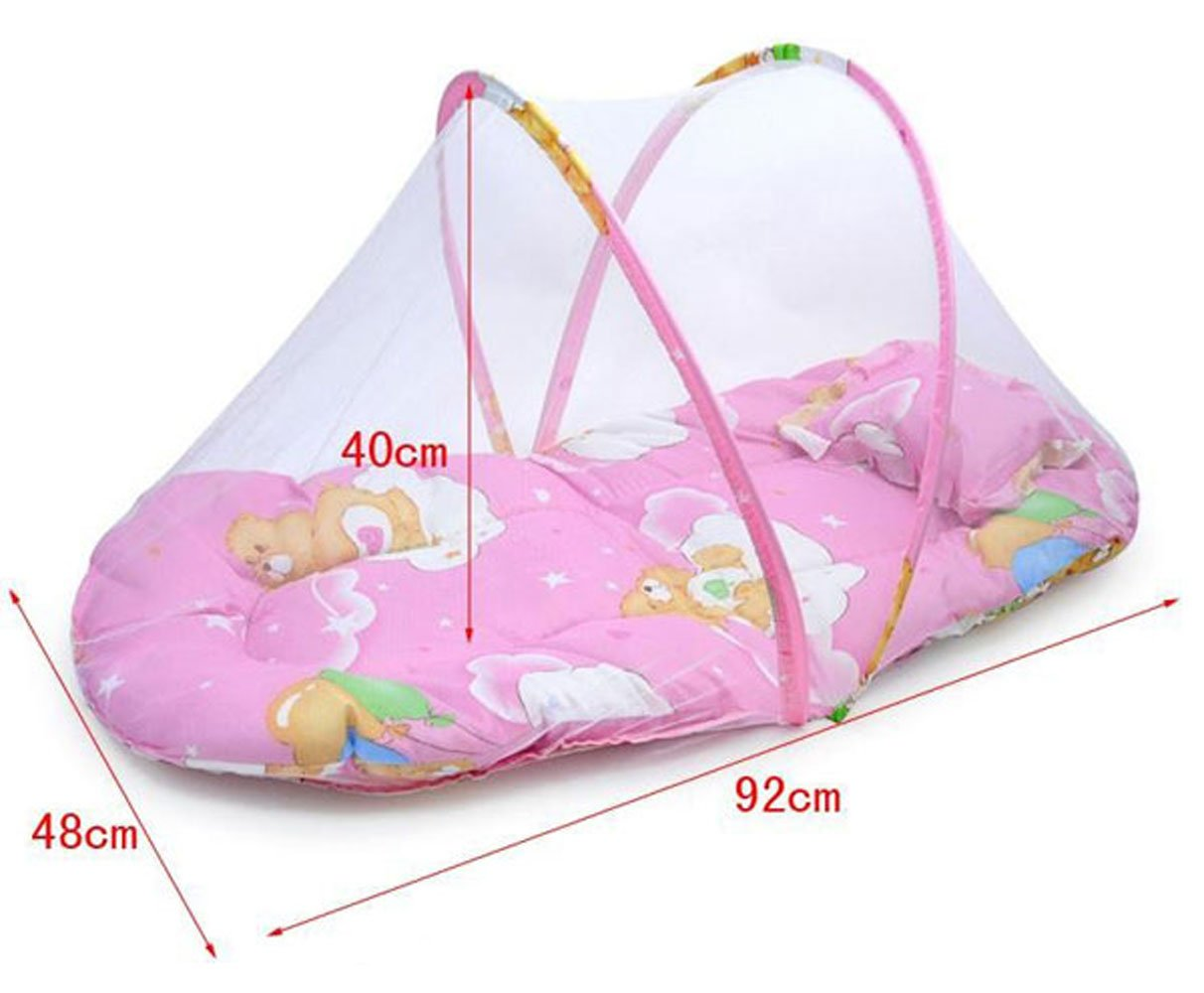 Baby bed net - Amazon Com Cdybox Baby Infant Folding Mosquito Net Tent With Pillow Portable Travel Kids Sleeping Bed Large Pink Baby