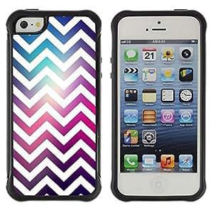 Suave TPU Caso Carcasa de Caucho Funda para Apple Iphone 5 / 5S / White Universe Purple Pink / STRONG