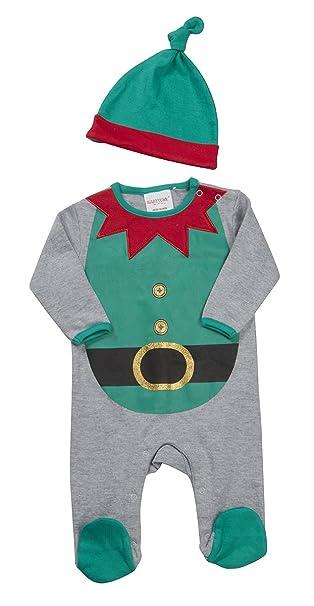 Babytown - Pijama de dos piezas para bebé, diseño de Navidad verde