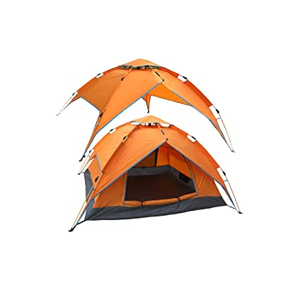 RT 2-3 Person Orange Automatic Pop Up Canopy Sun Shelter Outdoor Tent: Garden & Outdoor