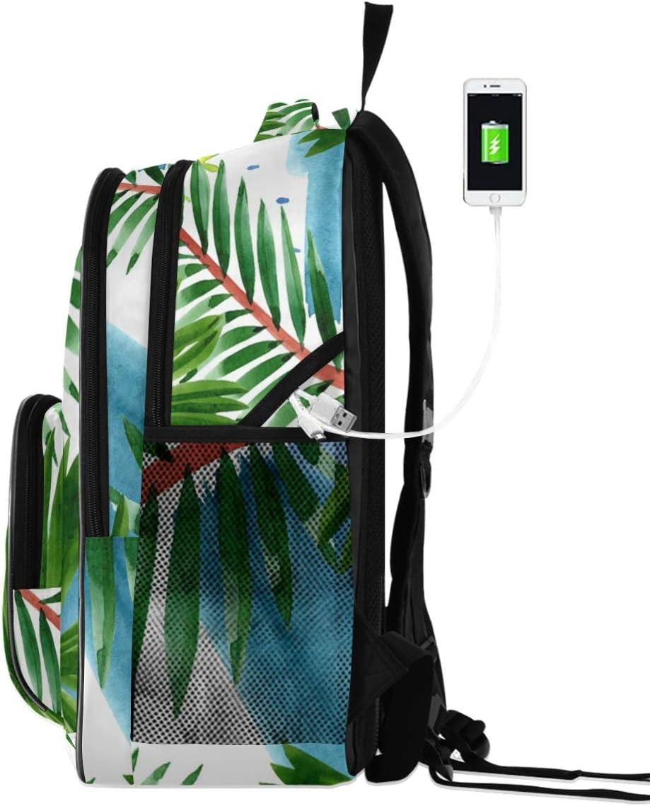 OREZI School Backpack for Girls Boys,Palm Beach Tree Bookbags Lightweight Laptop Travel Casual Daypack Rucksack for Student Teenagers kids