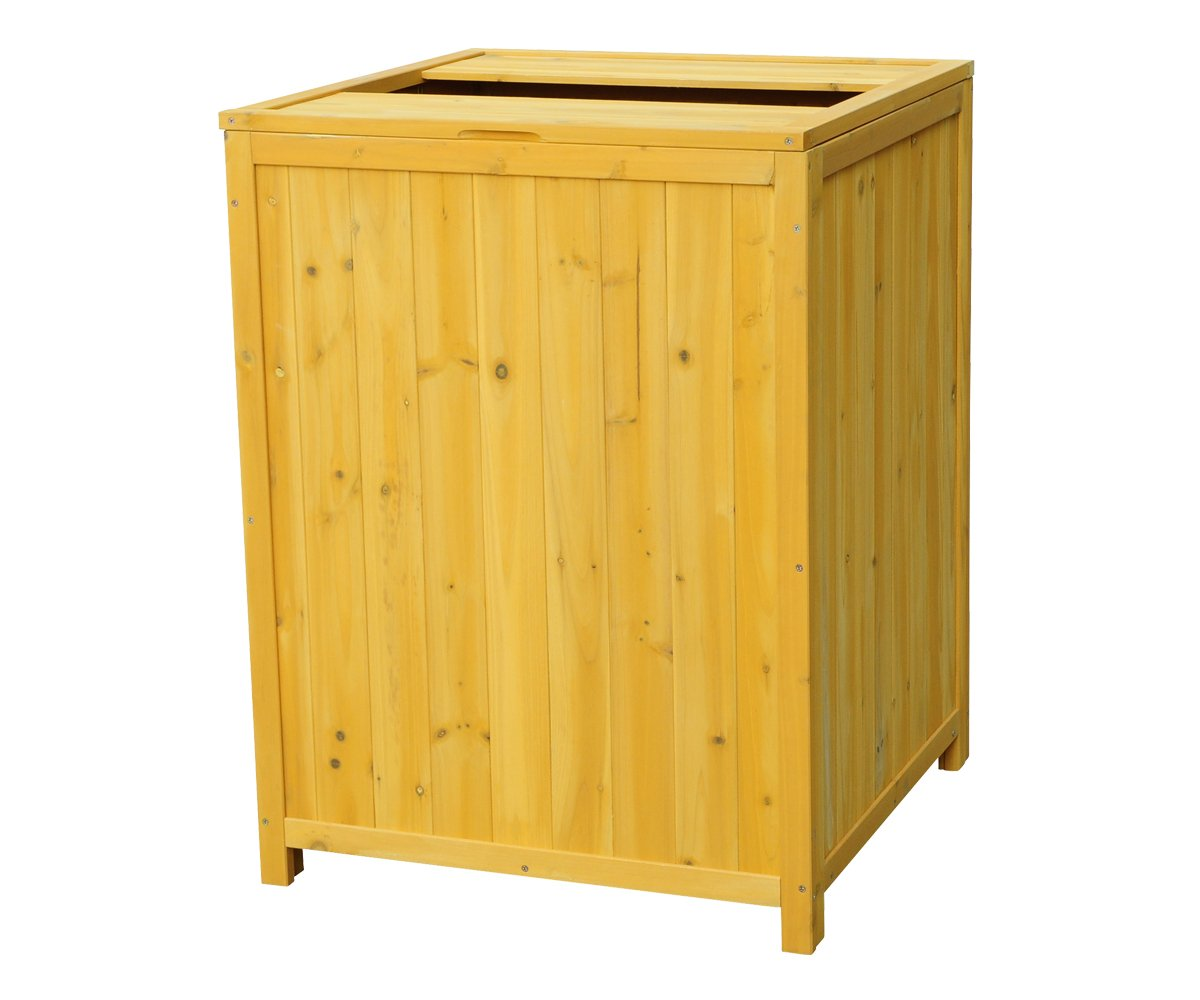 Leisure Season TR6565 Patio Trash Receptacle Storage Shed