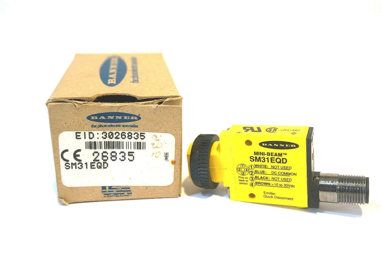 NEW BANNER ENGINEERING SM31EQD PHOTOELECTRIC SENSOR 26835