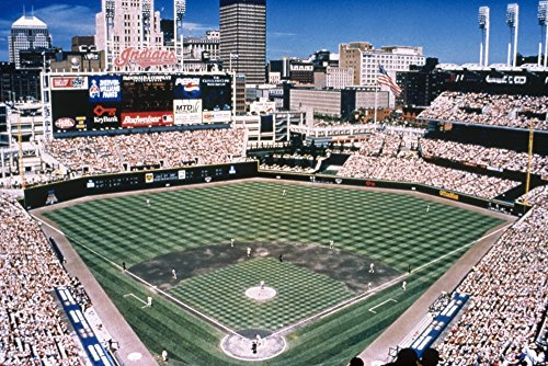 Cleveland Jacobs Field Nthe Home Of The Cleveland Indians Baseball Team In Cleveland Ohio Photograph C2000 Poster Print by (18 x 24) ()