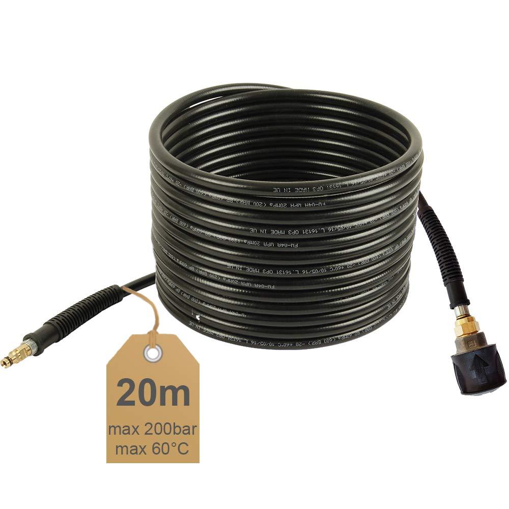 Quick Connect 60/°C NW 6x1 20m Hochdruckschlauch-Verl/ängerung 200bar geeignet f/ür K/ärcher Hochdruckreiniger