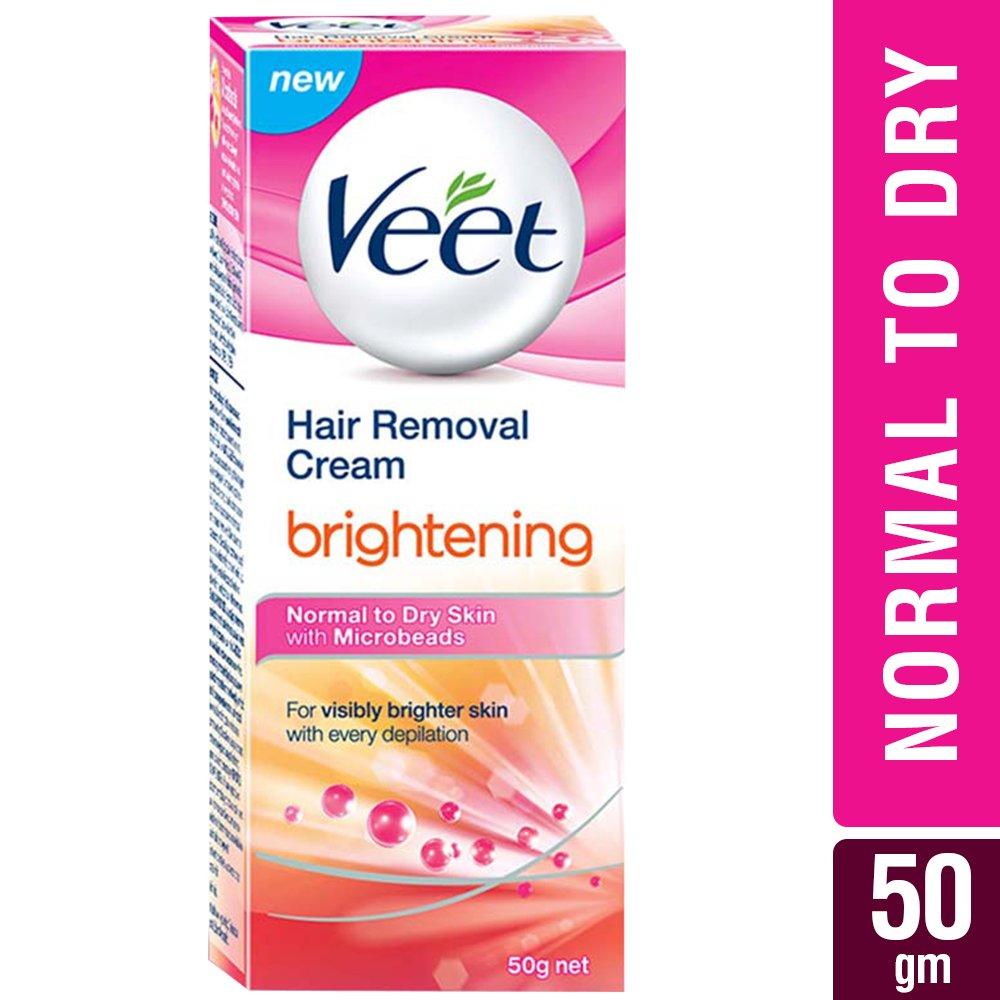 Buy Veet Brightening Hair Removal Cream 50 G Normal To Dry Skin