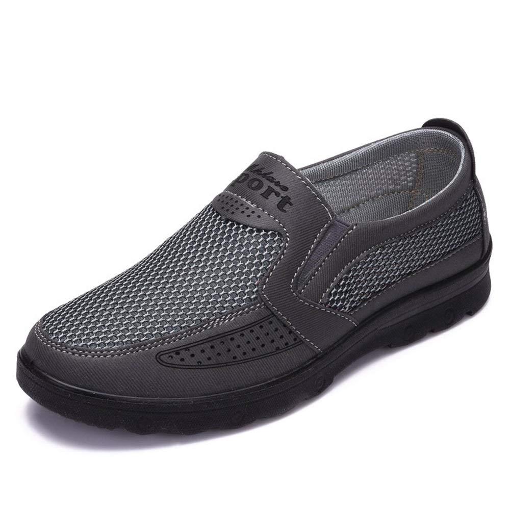 Fuxitoggo  helles  Herren-alte Peking-Stoff beschuht helles  zufälliges Nicht Beleg-Breathable weiche alleinige Schuhe (Farbe : Braun, Größe : EU 46) Schwarz 466a98