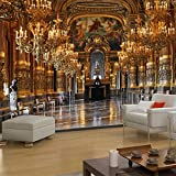 Colomac large mural European luxury palace perspective wallpaper bedroom living room background wallpaper 98.4 Inch x 78.7 Inch