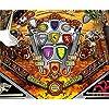 SteamPunk Gears (Yellow & Black) - Pinball Flipper Bat Topper MOD 5