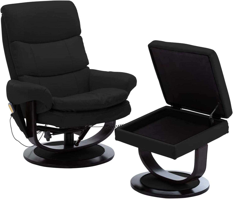 Elektrischer Massagesessel mit Fußhocker Fernsehsessel TV Relaxsessel+Heizung