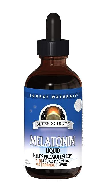 Source Naturals Sleep Science Melatonin Liquid Sleep Support - Orange Flavor - Fast-Acting...