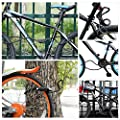 Bike Lock Cable Combination Self Coiling Resettable Security Bicycle Locks with Mounting Bracket 4 Feet x 1/2 inch