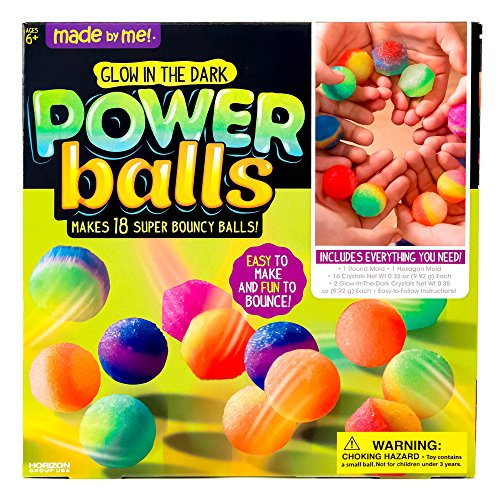 Made By Me Glow The Dark Powerballs by Horizon Group USA, Create Your Own DIY Super Bouncy Crystal Power Balls, Multicolored]()