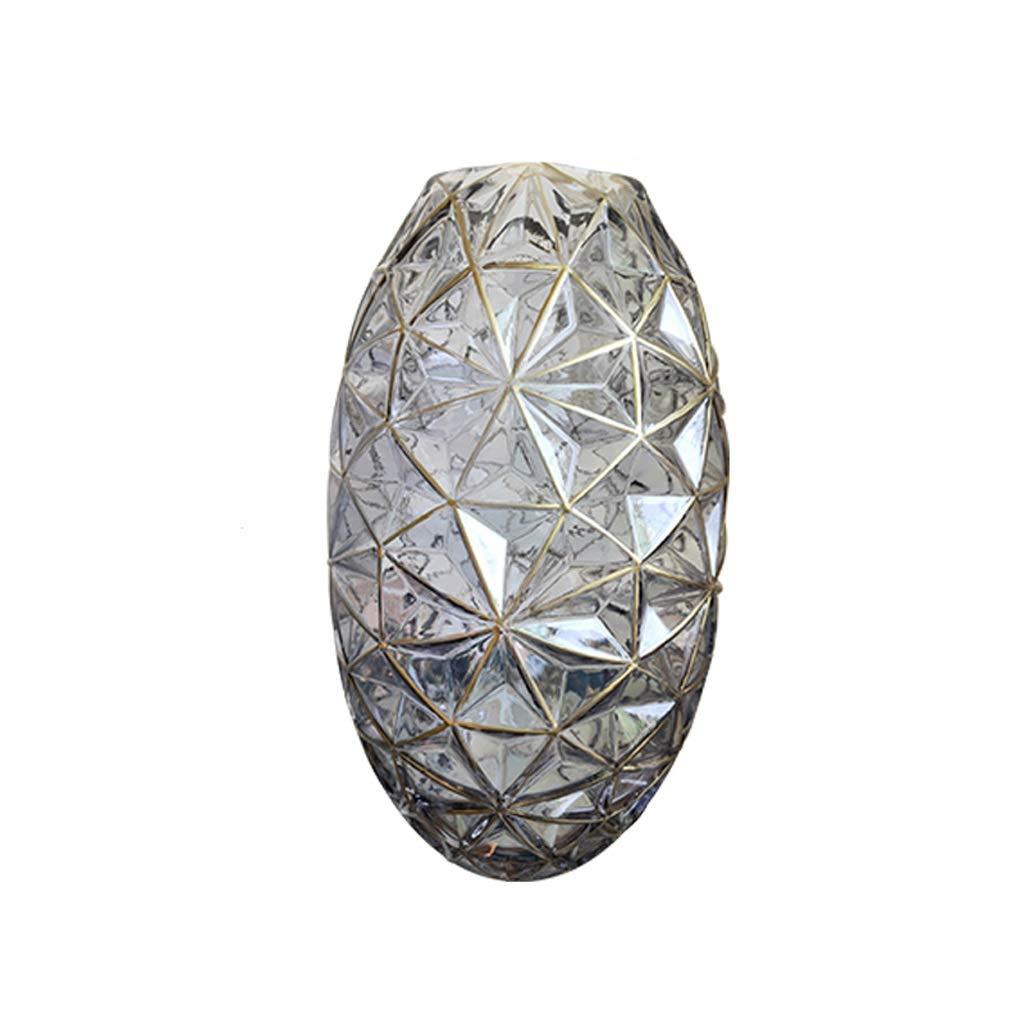 透明花瓶リビングルーム装飾水耕栽培ガラス花瓶 anQna (色 : グレイ ぐれい) B07SBTGR23 グレイ ぐれい