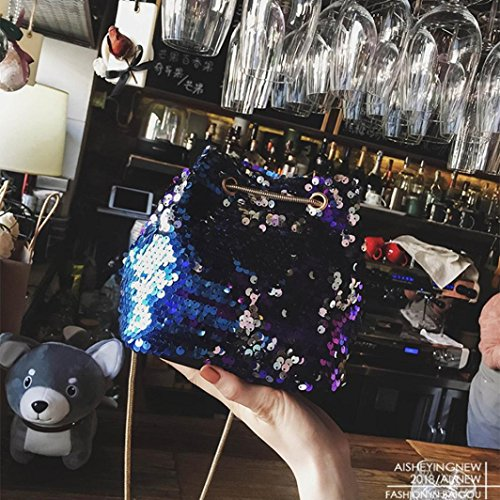 Fashion Bag Tote Women's Shoulder Shoulder Handbags Bag Bucket for Crossbody Beach Ladies Handbag Travel Casual Women Bags Bags Blue Bag Bag Sequins Bling Handbags Messenger Female 8ttpXq