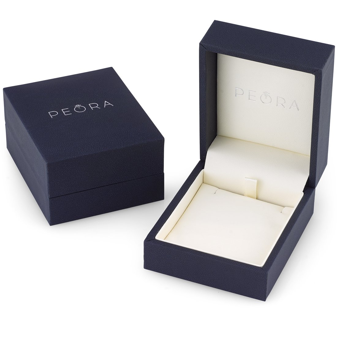 14 Karat White Gold Oval Shape 3.00 Carats London Blue Topaz Diamond Pendant by Peora (Image #4)