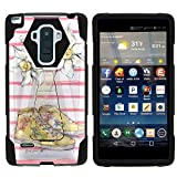 MINITURTLE Case Compatible w/LG G Stylo Phone Case, Silicome and PC Shock Impact Stand Case w/Dazzling Designs for LG G Stylo LS770, H631, MS631, LG G4 Stylus White Plumeria Flower